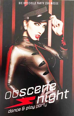 Raffle: 4 x 1 free ticket for the fetish fair obscene 2020